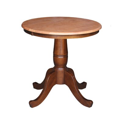 Doylan Dining Table Size: 30, Color: Cinnamon / Espresso