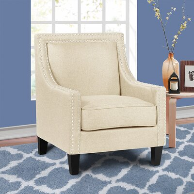Lyn Solid Wood Armchair Upholstery: Beige