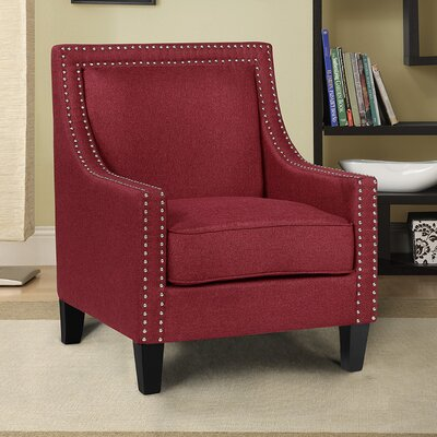 Trefethen Armchair Upholstery: Red