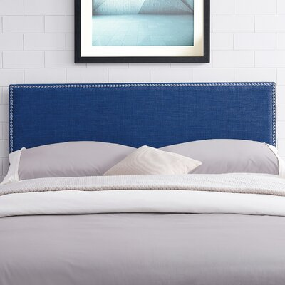 Unger Square Upholstered Headboard Size: Twin, Color: Blue