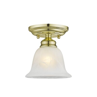 Cicco 1-Light Semi Flush Mount Finish: Polished Brass