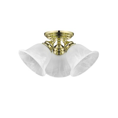Cicco 3-Light Flush Mount Finish: Polished Brass