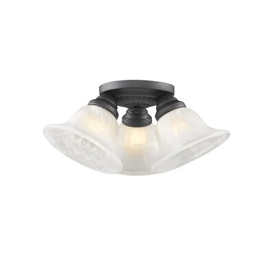 Nicolas 3-Light Flush Mount Finish: Bronze