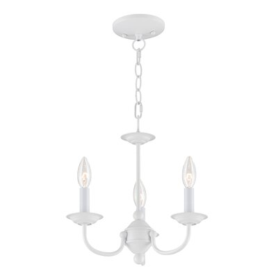 Colesville 3-Light Candle-Style Chandelier Finish: White