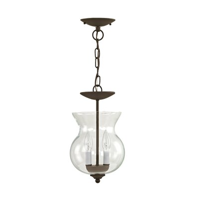 Lauritsen 2-Light Lantern Pendant Finish: Bronze