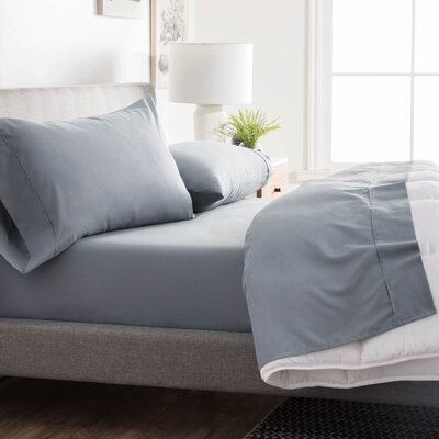 Inniss Sheet Set Size: Split King, Color: Slate