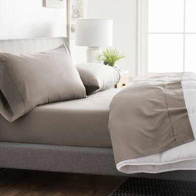 Inniss Sheet Set Size: Spilt Queen, Color: Sandstone