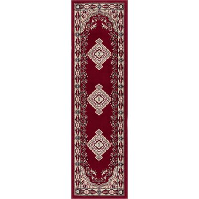 Bungalow Red Area Rug Rug Size: Runner 2 x 72