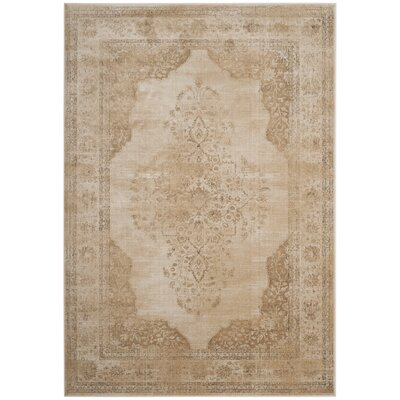 Parkmead Cream Area Rug Rug Size: Rectangle 53 x 76