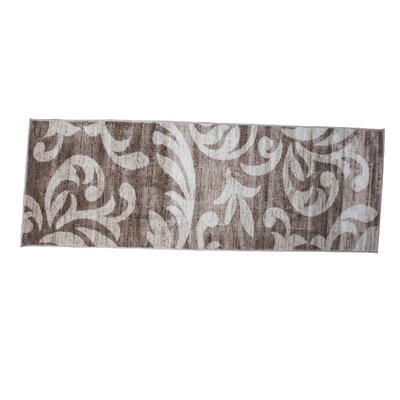 Knoxville Taupe/Cream Area Rug Rug Size: Runner 3 x 8