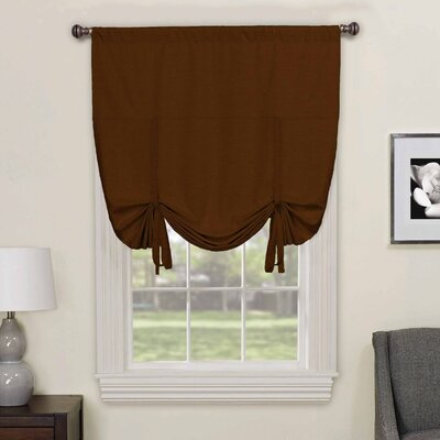 Columbia Blackout Window Tie-Up Shade Color: Chocolate