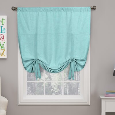 Columbia Blackout Window Tie-Up Shade Color: Pool