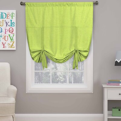 Columbia Blackout Window Tie-Up Shade Color: Lime