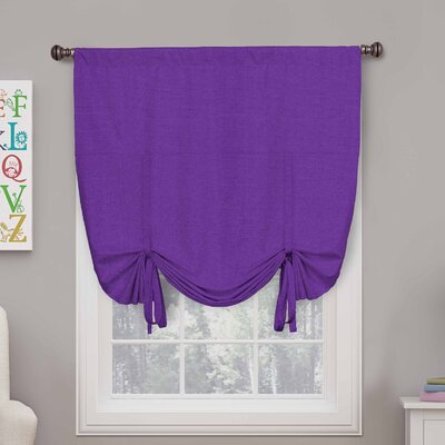 Columbia Blackout Window Tie-Up Shade Color: Purple