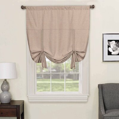 Columbia Blackout Window Tie-Up Shade Color: Light Gray