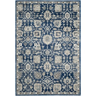 Wayne Navy/Ivory Area Rug Rug Size: Rectangle 51 x 76