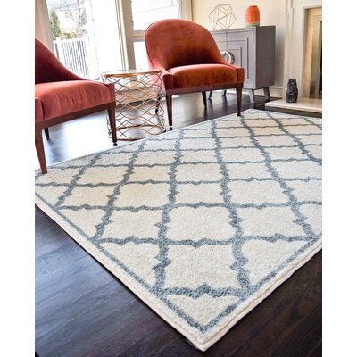 Bergen Gray/White Area Rug Rug Size: 8 x 10