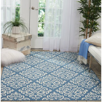 Bolivia Blue Area Rug Rug Size: Rectangle�710 x 910