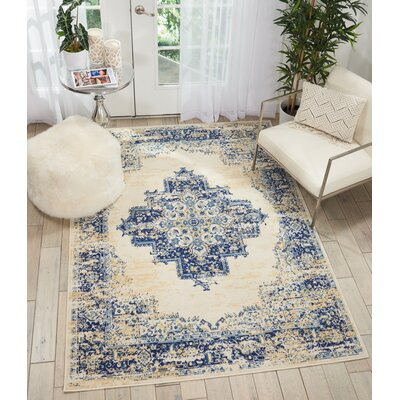 Susan Blue Area Rug Rug Size: Rectangle�53 x 73