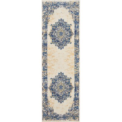 Susan White Area Rug Rug Size: Runner 23 x 76