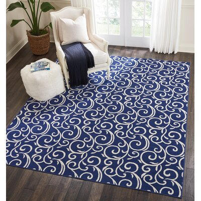 Susan Navy Area Rug Rug Size: Rectangle�53 x 73