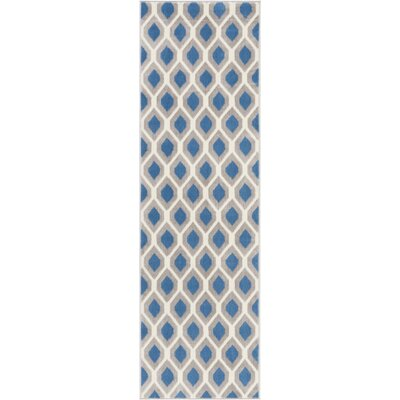 Susan Blue Indoor Area Rug Rug Size: Runner 23 x 76