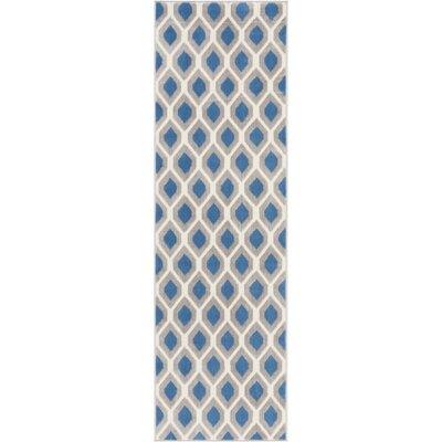Susan Blue Indoor Area Rug Rug Size: Runner 23 x 76