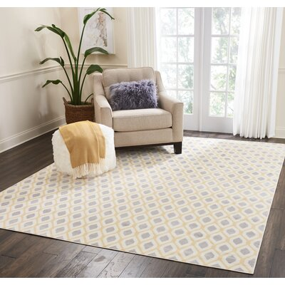 Susan Gray/Beige Area Rug Rug Size: Rectangle�53 x 73