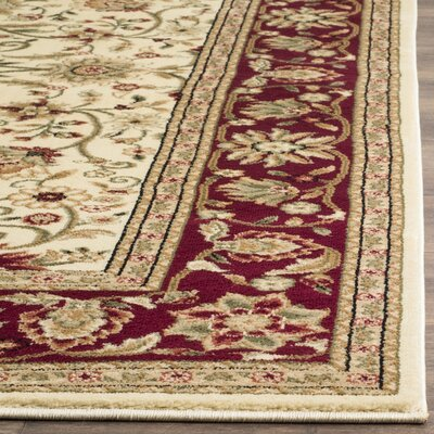 Ottis Ivory/Red Area Rug Rug Size: Rectangle 5'3