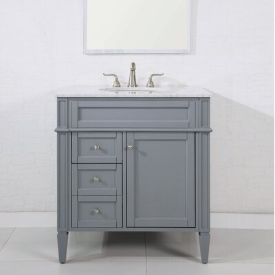 32 Single Bathroom Vanity Set Base Finish: Gray