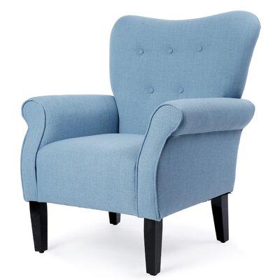 Naumann Leg Armchair Upholstery: Blue