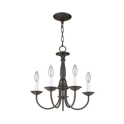 Cloverfield 5-Light Candle-Style Chandelier Finish: Bronze