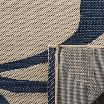 Octavius Beige / Blue Indoor / Outdoor Area Rug Rug Size: Rectangle 67 x 96