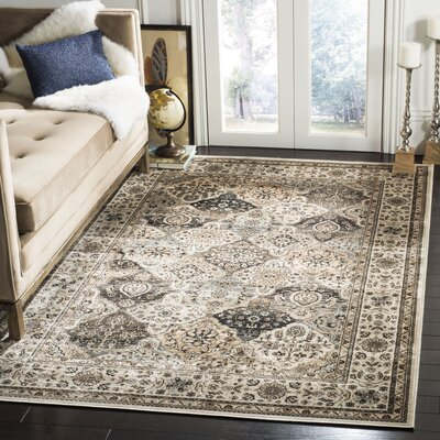 Petronella Ivory Area Rug Rug Size: Rectangle 51 x 77