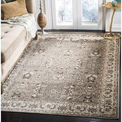 Petronella Gray/Ivory Area Rug Rug Size: Rectangle 51 x 77