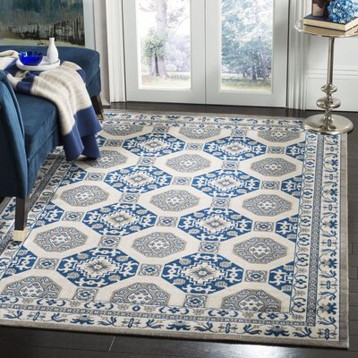Nielsen Gray/Blue Area Rug Rug Size: Rectangle 5'1