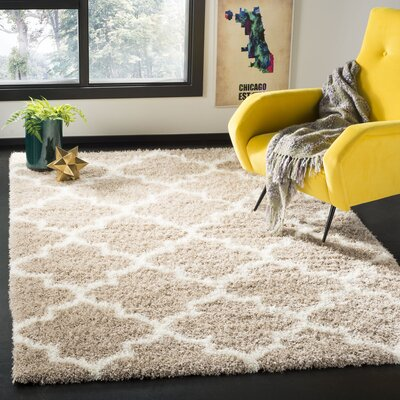 Bingham Beige Indoor  Area Rug Rug Size: Rectangle 53 x 76