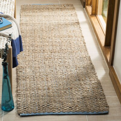 Elston Hand-Woven Light Beige/Natural Area Rug Rug Size: Runner 23 x 8