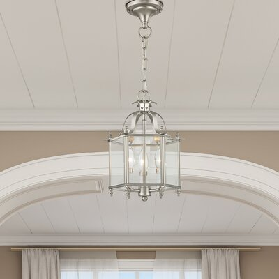 Claysburg 3-Light Convertible Foyer Pendant Finish: Brushed Nickel