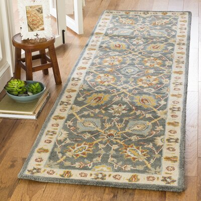 Albertine Dark Grey Area Rug Rug Size: Runner 23 x 8