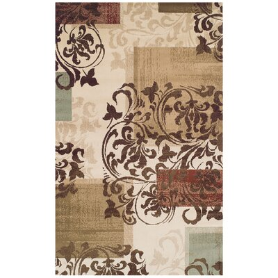 Verndale Traditional Beige/Brown Area Rug Rug Size: Rectangle 8 x 10