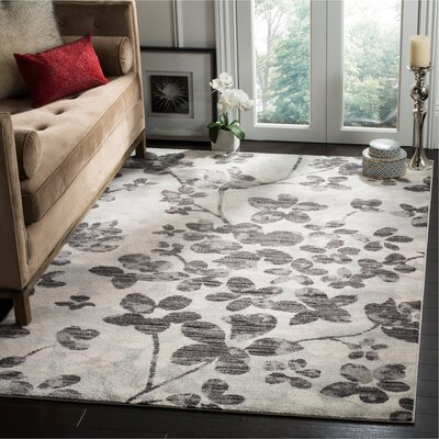 Pike Gray/Black Area Rug Rug Size: Rectangle 10 x 14