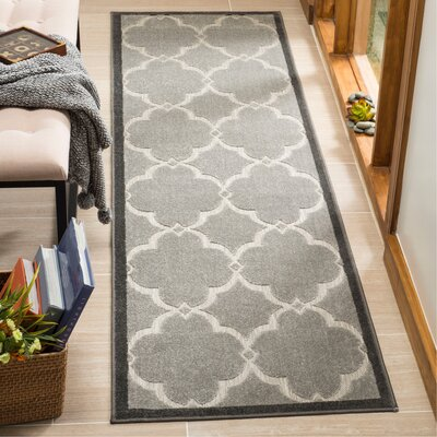 Bryan Gray Indoor/Outdoor Area Rug Rug Size: Runner 23 x 8