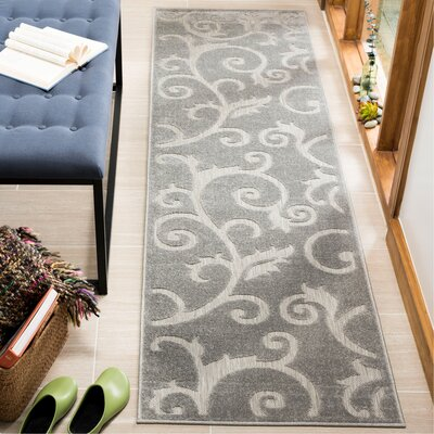 Bryan Gray Area Rug Rug Size: Runner 23 x 8