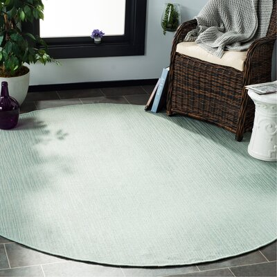 Poole Green/Beige Indoor/Outdoor Area Rug Rug Size: Round 67