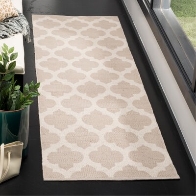 Willow Hand-Woven Gray/Ivory Area Rug Rug Size: Runner 23 x 7