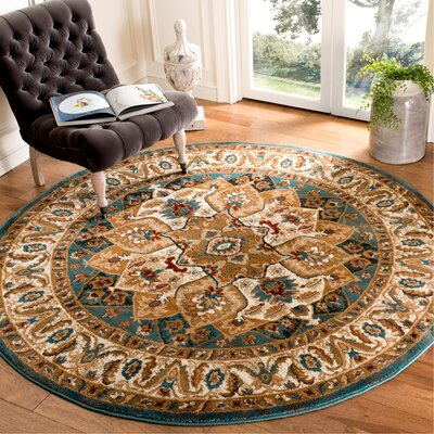 Lowe Teal Area Rug Rug Size: Rectangle 67 x 92