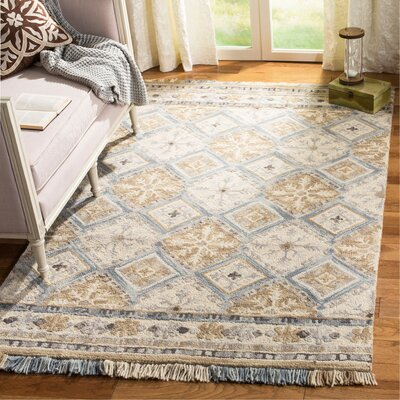 Bradwood Hand-Tufted Beige Area Rug Rug Size: Rectangle 8 x 10