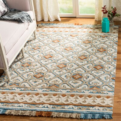 Bradwood Hand-Tufted Ivory Area Rug Rug Size: Square 6