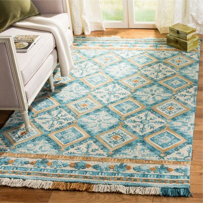 Bradwood Hand-Tuftedt Ivory Area Rug Rug Size: Rectangle 23 x 8
